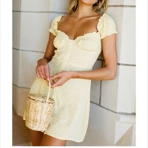 With Jean Isabella yellow dress small